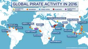 Pirates Map Pirates Are Making A Comeback On The High Seas And Have Africa