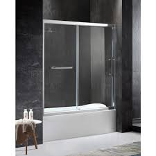 tub with glass shower door hinged shower doors showers the home depot