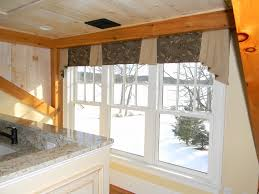 interior window valance ideas beige kitchen curtains bed bath