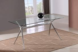 glass and chrome dining table marengo x base design rectangular dining table with glass top