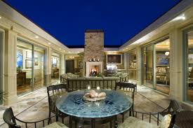 atrium courtyard in a u shaped house backyard landscaping