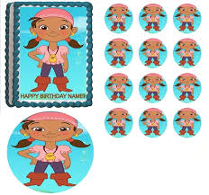 jake neverland pirates izzy edible cake topper frosting