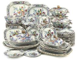 a spode china pheasant pattern part dinner service