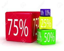 discount promotion percentage color cubes stock photo picture and