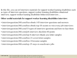 Disability Support Worker Resume Example by Top 10 Support Worker Learning Disabilities Interview Questions And A U2026
