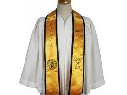 custom graduation stoles custom honor stole with trim custom graduation stoles your