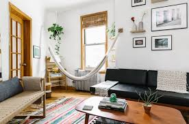 Living Room Hammock Before U0026 After Solving Odd Angles On A Tight Budget Streeteasy