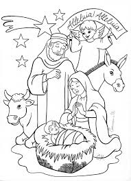 nativity coloring coloring sunday