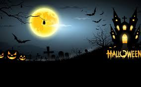 halloween night wallpaper art halloween night pumpkins moon 6981802
