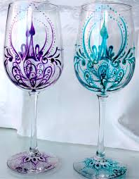 wine glass painting glass painting suzann art