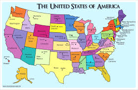 Map Of American States Usa States And Capitals Map United Of America Lifeloveand Me