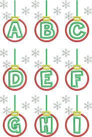 ornament applique alphabet digistitches machine
