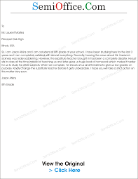 Business Complaint Letter Format by Complaint Letter Against Teacher Semioffice Com