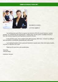 business analyst cover letter sample cover letters