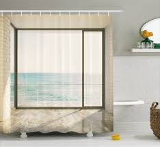 beach themed shower curtain tales of the sea shower curtain