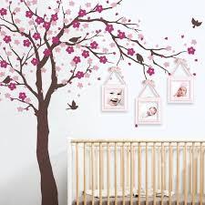 sticker mural chambre bébé cherry blossom arbre stickers muraux chambre de bacbac pacpiniare
