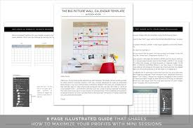 the big picture wall calendar template design aglow