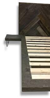 floating platform bed with herringbone design sustain furniture co
