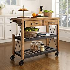 roots rack natural industrial kitchen cart crosley furniture