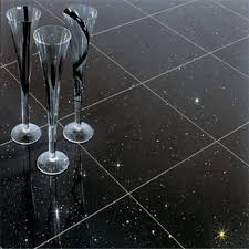 black floor tile 24x24 black shiny floor tile sparkle quartz tile