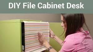 Diy Desk With File Cabinets Diy File Cabinet Desk Diy