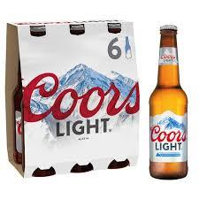 how much sugar in coors light coors light 6x330ml bottles tesco groceries
