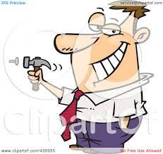 royalty free rf clip art illustration of a cartoon man hammering