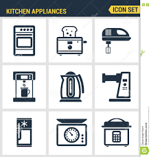 Kitchen Utensils And Tools by Icons Set Premium Quality Of Kitchen Utensils Household Tools And