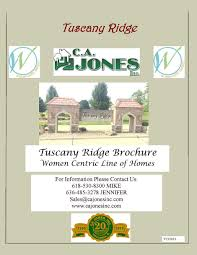 tuscany ridge woman centric line of homes