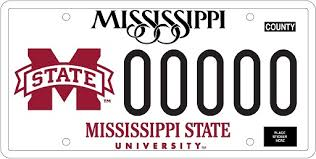 of alabama alumni car tag mississippi state development and alumni msu car tag