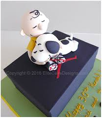 charlie brown and snoopy kids birthday cake from the peanuts movie