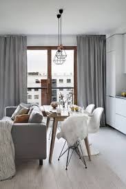 interior modern windows with cushion chair and grey curtain for