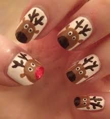 easy deer nail art deer nails art