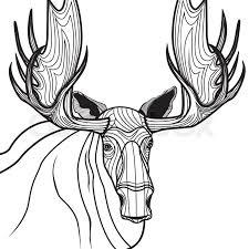 moose head vector animal illustration for t shirt sketch elk