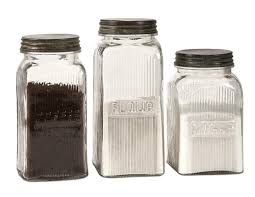 buy kitchen canisters set of 3 vintage style coffee flour and sugar glass canisters with