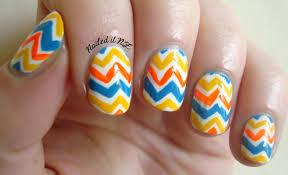 nailed it nz nail art for short nails 3 zig zag nails
