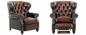 Chesterfield Armchairs For Sale Chesterfield Leather Button Tufted Reclining Wingback Arm Chair