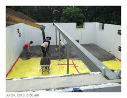 the basement slab insulation and vapor barrier west chester