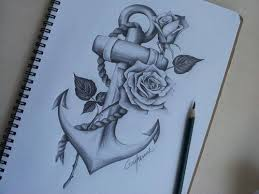 anchor with roses shared by infinate on we it
