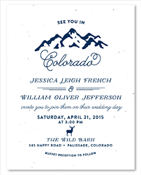 mountain wedding invitations mountains wedding invitations on white seeded paper