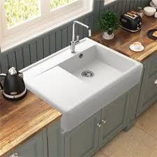 evier retro cuisine évier à poser granit blanc kümbad kiwi 1 grand bac 1 égouttoir
