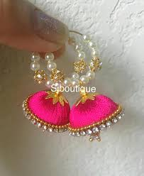thread earrings hoop jhumka ear rings silk thread earrings silkthread