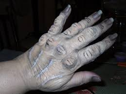 Halloween Crafts Witches by My First Attempt At Old Witch Hands Used Liquid Latex Cotton