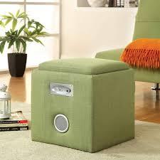 furniture of america bluetooth double speaker storage ottoman ebay