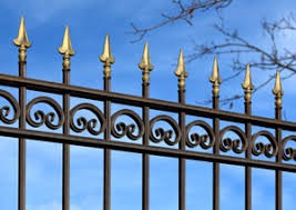 custom fabricated ornamental wrought iron fencing