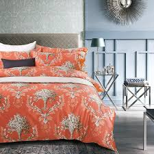 Orange And White Comforter Orange Bedding Sets King Bedding Bed Linen