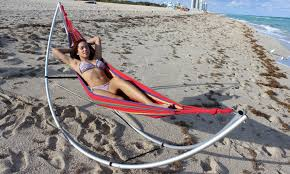 Diy Portable Hammock Stand Folding Beach Hammock Youtube