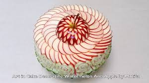 Vegetable Decoration Videos Art In Cake Decorating From Watermelon And Apple Quick Easy