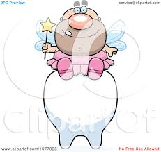 clipart male tooth fairy sitting on a tooth royalty free vector