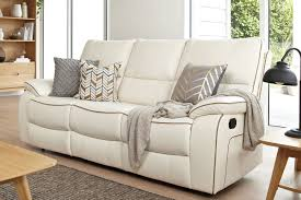three seater recliner sofa strata 3 seater leather recliner sofa by synargy harvey norman new